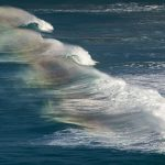 wave photos with short exposure, rainbow waves