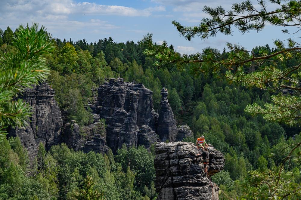 Kletterer im Kletterparadies - der Mensch als Komponente in der Landschaftsfotografie im Bielatal