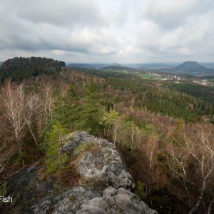 Blick vom Papststein in Richtung Gohrisch als Beispiel für die schöne Landschaft und Fotomotive, die es dort gibt