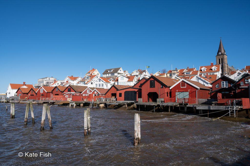 Red wooden houses in Fjällbacka