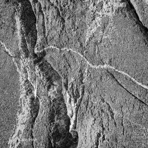 Schwarz Weiß Nahaufnahme von filigranen Strukturen im Stein im Kosterhavet Nationakpark an der Westküste Schwedens