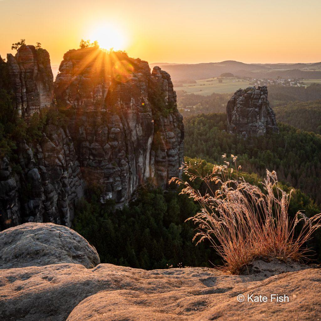 Wandern in der Sächsischen Schweiz - zum Sonnenuntergang auf die Schrammsteinaussicht